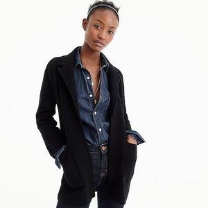 NEW Jcrew Sweater Blazer, black, medium